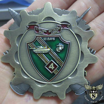 "MARINE CORPS 4TH TANK BATTALION 2.5"" 3D CHALLENGE COIN THE FIRST ROUND I... - $27.07"