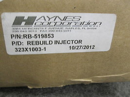 HAYNES CORP RB-519853 GENERAL ELECTRIC FUEL INJECTOR 323X1003-1 image 2