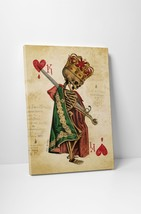 King Of Hearts Vintage Playing Card Gallery Wrapped Canvas Print - $44.50+