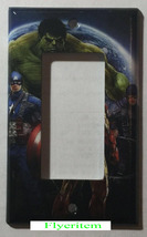 Comics Heroes iron-man Hulk Light Switch Outlet Toggle Wall Cover Plate Home dec image 3