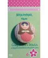 Matryoshka #12 Needleminder fabric cross stitch needle accessory - $7.00