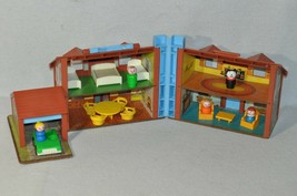Vintage Fisher Price Little People 952 Brown Tudor House Complete 1019!!! - $80.00