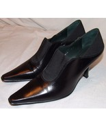 Donald J Pliner Classic Black Pumps Heels 7 1/2 M 7.5 Womens Shoes Dressy - $47.24