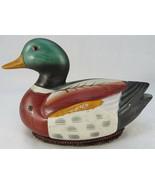 Vintage JASCO Patent Pending MALLARD DUCK BIRD Hand Painted CERAMIC Taiw... - $25.00