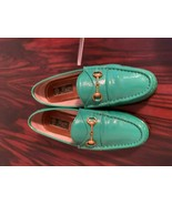 EUC GUCCI Teal Green Patent Leather Loafers SZ 36.5 - $272.25