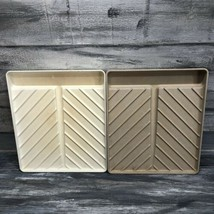 Vtg Microware BACON RACK TRAY PM 469-TI Microwave Anchor Hocking Lot Of 2 - $18.76
