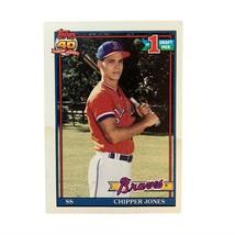 Topps 1991 Chipper Jones Atlanta Braves #333 Baseball Card - #1 Draft Pick - $5.93