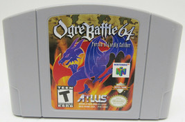 Ogre Battle 64 Person of Lordly Caliber (Nintendo 64, 2000) Authentic -A - $49.99