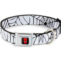 """Spider-man Spiderweb White/Black Web Logo Dog Collar - 1"""" Wide - $22.89"""