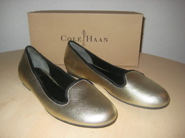 Cole Haan Shoes Size 8.5 M Womens New Air Morgan White Gold Metallic Fla... - $117.81