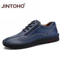 38 JINTOHO leather men's genuine shoes size big leather 50 casual male fashion m qEExZRr6w