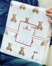 Pottery Barn Kids Teddy Bear Duvet Cover Set Twin 1 Standard Sham Flanne... - $115.00