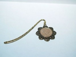 1949 70th Birthday Anniversary Farthing Coin Bookmark with Shiny Farthing - $11.46