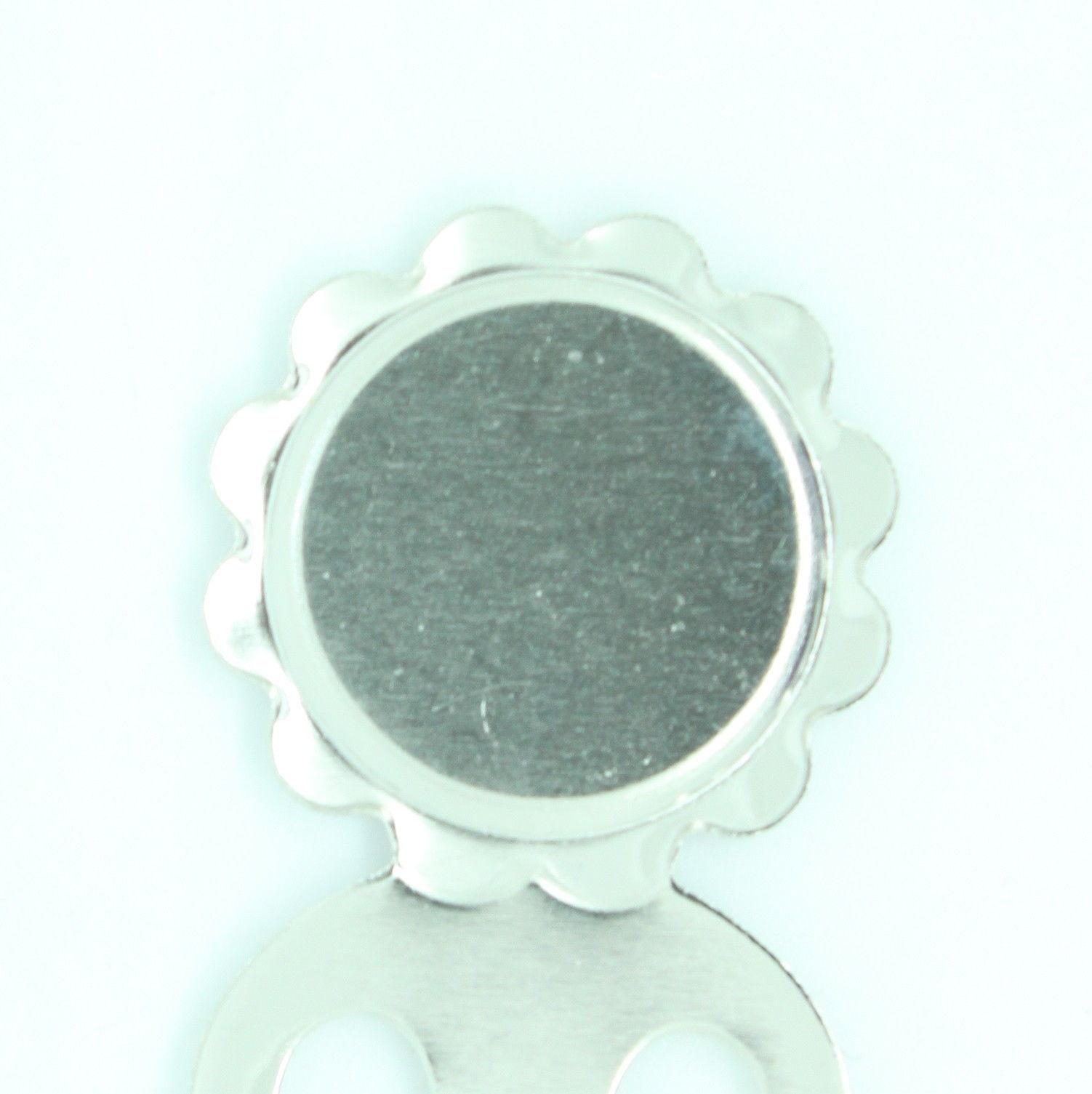 Beautiful Black White Silver Murano Glass Bookmark with Millefiori