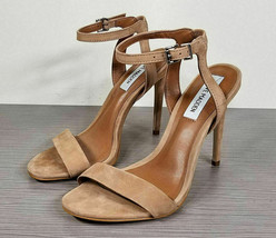 Steve Madden Landen Ankle Strap Sandal, Tan Nubuck, Womens Various Sizes - $19.80+