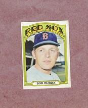 1972 Topps high # 734 Bob Burda Boston Red Sox Nice Card - $4.99