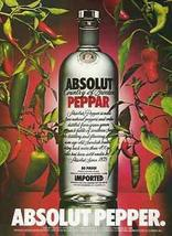 Absolut Pepper 1989 Red Green Peppers ABSOLUT Vodka Distillery AD - $14.99
