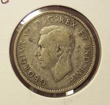 KM#44 1941 Silver Canadian Quarter F #0026 - $5.28