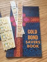 Vintage set of 3 unused Gold Bond Savers books & 28 unused stamps  image 4