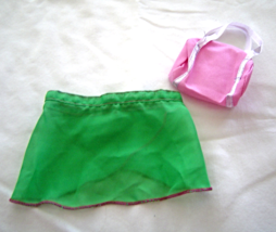 "Green Ballet Dance Skirt Pink  Bag Fits 18"" Doll American Girl Our Gener... - $9.99"