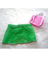 "Green Ballet Dance Skirt Pink  Bag Fits 18"" Doll American Girl Our Gener... - $9.99"