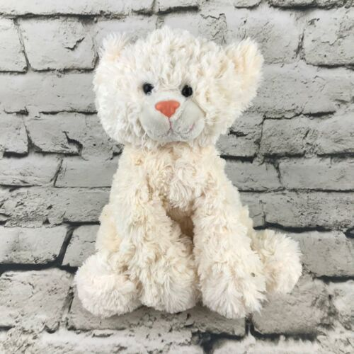 Ganz Cat Plush Cream Off-White Long Haired Sitting Stuffed Animal Soft Toy