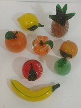 Rare Lenox Glass Fruit Lot of 8 Excellent Condition. - $68.30