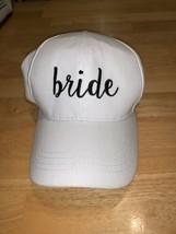 CC White bride Baseball Hat Adjustable - $25.00