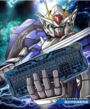 Mobile Suit Gundam OO 00 Crack Keyboard LED Backlight USB Wired Multimed... - $44.98