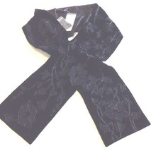 Ladies Ralph Lauren Purple Label Black Floral Sequin Scarf Shawl RRP £579 - $179.56