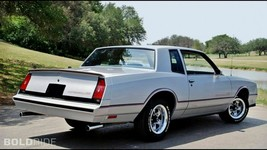 1985 CHEVY MONTE CARLO SS (grey) POSTER 24 X 36 INCH - $19.79