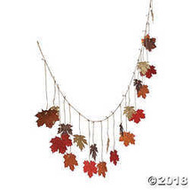 Glittered Maple Leaves Garland - $8.36