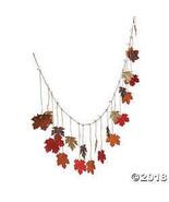 Glittered Maple Leaves Garland - $8.36
