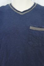 Alfani RED Mens T Shirt Sz S Neo Navy Blue Short Sleeve V Neck Pocket Tee - $14.27