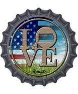 Love Kansas Novelty Metal Bottle Cap BC-681 - $21.95