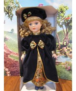 """Fine porcelain 16"""" Hearts & memories doll blonde hair blue velvet dress ... - $31.19"""