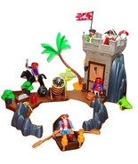 Playmobil LOT 5782 Pirate Hideout Crocodile 5 Pirates Horse Tower Boat T... - $36.00