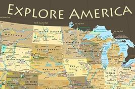 National Parks Map Poster and USA Travel Destinations Poster 36W x 24H inches image 5