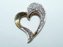 Elegant Vintage 14K Gold Marked, Stylized Heart-Shaped Pendant, L 2 cm - $103.46