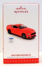 Hallmark 2015 Ford Mustang GT Red Sports Car Christmas Ornament Die Cast... - $29.90