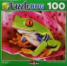 100 Piece Jigsaw Puzzle by Puzzlebug 9 in x 11 in - Red Eyed Tree Frog - $4.99