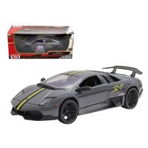 Lamborghini Murcielago LP 670 4 SV Grey Diecast Model Car 1/24 by Motorm... - $29.91
