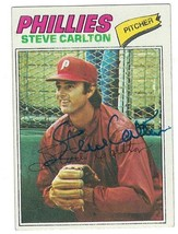 Steve Carlton Signed 1977 Topps Card #110 Autographed - $26.18