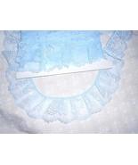 "LIGHT PASTEL BLUE  3"" Gathered Ruffled  100% Polyester Lace (5 yards) - $4.25"