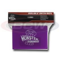 25x MONSTER PROTECTORS DOUBLE DECK BOX - Matte Purple - Magnetic Lock - $116.38
