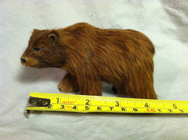 Wild Brown Grizzly Bear Animal Figurine - recycled rabbit fur image 7