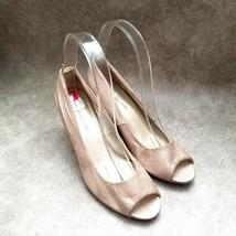 "Bandolino Womens Tristan  Size 6 Tan  Peep Toe 3"" Wedge Heels - $18.99"