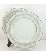 """Noritake Donegal Bread and Butter Plates Set of 2 White with Daisies 6-5/8"""" - $11.88"""