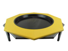 JCs Wildlife Ground Garden Poly Lumber Bird Bath 16 Yellow Gray Low Profile - $62.69