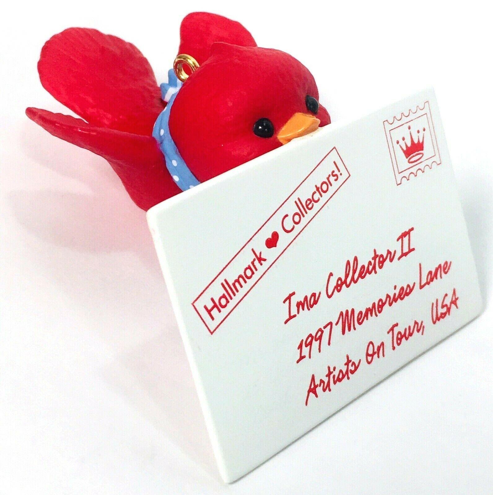 Hallmark Keepsake Ornament 1997 Artists on Tour First Class Thank You Red Bird